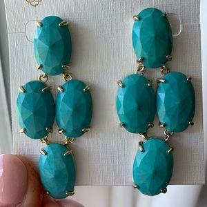 Kendra Scott Turquiose Steph Earrings